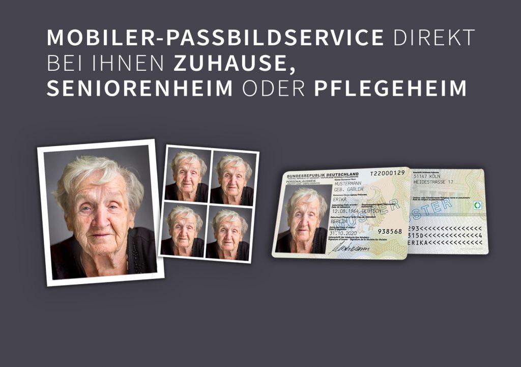 Für Menschen mit eingeschränkter Gehfähigkeit bieten wir an Passbilder direkt vor Ort zu machen.