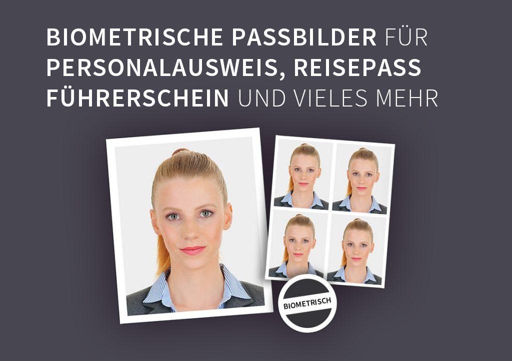 Biometrische Passfotos, Passbilder und für Personalausweis, Reisepass, Führerschein und vieles mehr.